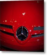 Big Red Smile - Mercedes-benz S L R Mclaren Metal Print