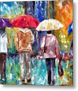 Big Red Umbrella Metal Print