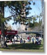 Big Red Wagon In Riverfront Park Metal Print