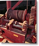 Big Red Winch Metal Print
