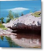 Big River Rock Metal Print