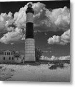 Big Sable Lighthouse Under Cloudy Skies Metal Print