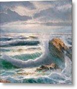 Big Seastorm - Italy Metal Print