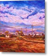 Big Sky Red Earth Metal Print