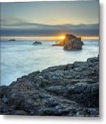 Big Sur Seascape Metal Print