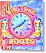 Big Time Boots - Nashville Hot Pink Metal Print