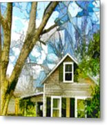 Big Tree Standing Tall In The Front Yard Metal Print