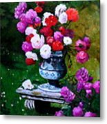Big Vase With Peonies Metal Print