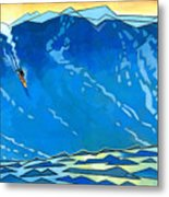 Big Wave Metal Print by Douglas Simonson