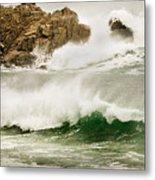 Big Waves Comin In Metal Print