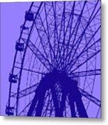 Big Wheel Blue Metal Print