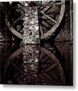 Big Wheel In Bw Metal Print