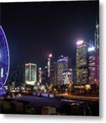 Big Wheel In Hong Kong Central Metal Print