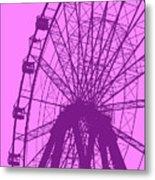 Big Wheel Purple Metal Print