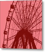 Big Wheel Red Metal Print