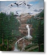 Big White One Metal Print