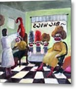 Big Wigs And False Teeth Metal Print