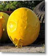 Big Yellow Balls Metal Print