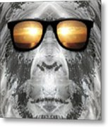 Bigfoot In Shades Metal Print