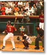 Biggio At Bat Houston Astros Metal Print