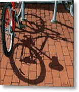Bike And Bricks  Metal Print