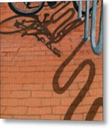 Bike And Bricks No.2 Metal Print