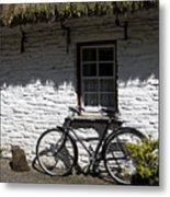 Bike At The Window County Clare Ireland Metal Print