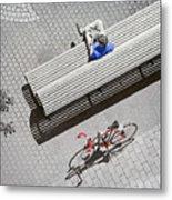 Bike Break Metal Print
