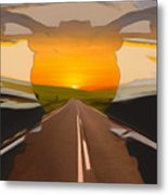 Bike Canyon Highway Metal Print