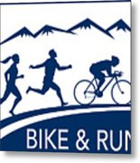 Bike Cycle Run Race Metal Print