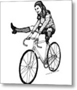 Bike Fun Metal Print