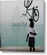 Bike Head In Key West Florida Metal Print