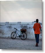 Bike In Essaouira Metal Print