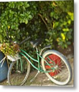 Bike In Maupiti Metal Print