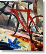 Bike In The Bedroom Metal Print