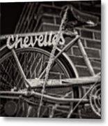 Bike Over Chevelles Metal Print