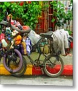 Bike Repair Shop On Wheels Metal Print