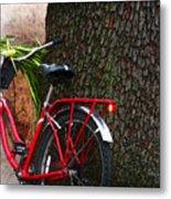 Bike Resting Metal Print