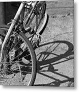 Bike Shadow Metal Print
