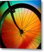 Bike Silhouette Metal Print by Garry Gay
