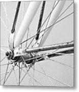 Bike Spokes Metal Print