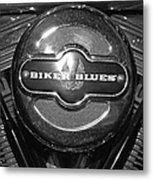 Biker Blues Metal Print