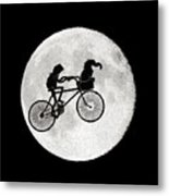 Biker Of The Moon Metal Print