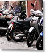 Bikes And Scooters Metal Print