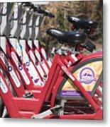 Bikes For Rent Metal Print