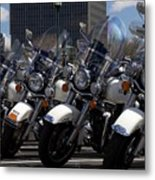 Bikes In Blue Metal Print