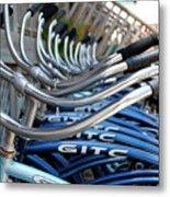 Bikes Metal Print by Steven Scott