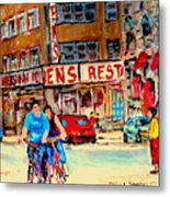 Biking  Past Ben Metal Print