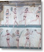 Bikini Girls Mosaic Metal Print