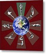 Bikram Yoga Metal Print